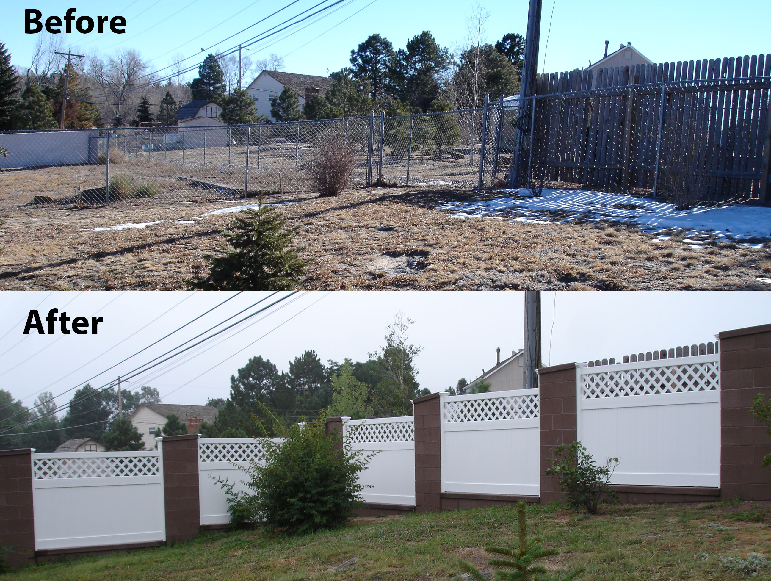 Plain Vinyl Privacy Fence Ideas Jim In Colorado Created A Throughout Design Decorating