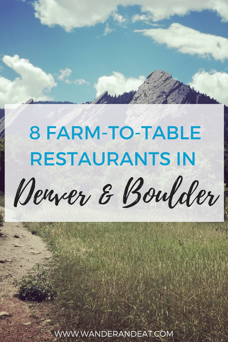 Farmtotable Restaurants In Denver Boulder - Farm to table denver
