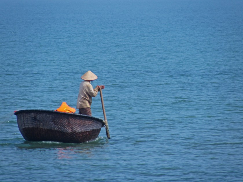Traditional Vietnamese fisherman, Hoi An