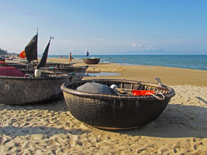 Vietnamese fishing boats Hoi An
