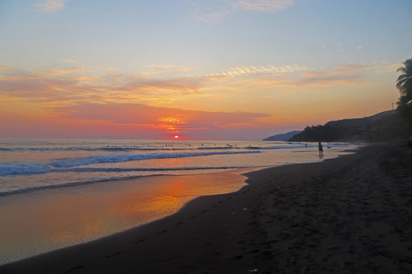 El Zonte Beach sunset, El Salvador