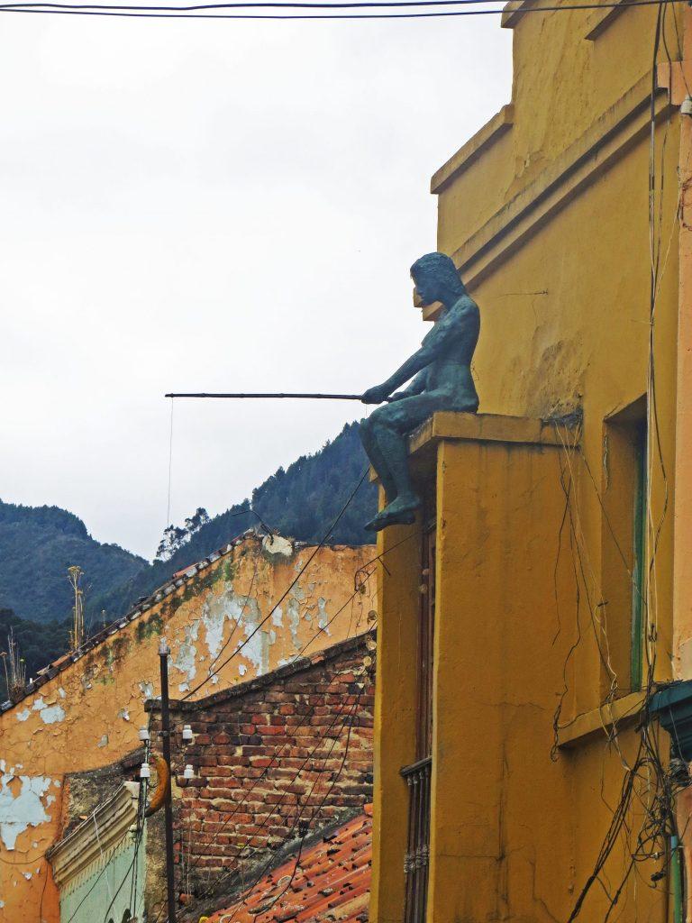 Bogota street art sculpture