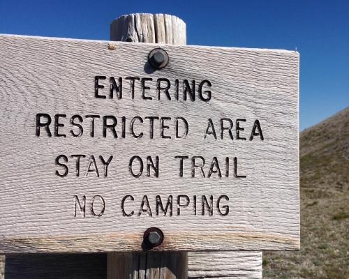 A polite warning.