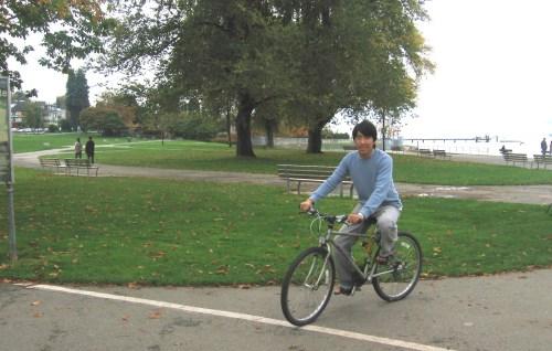 biking across Vancouver