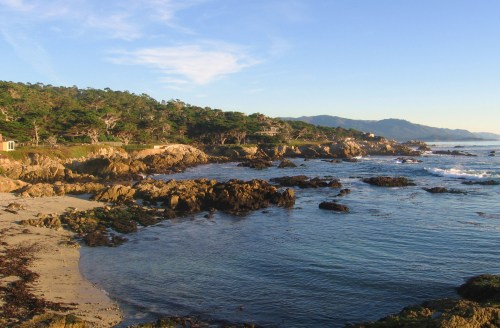 pebble beach in the 17-mile scenic drive