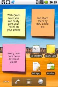 Виджет для андроид - Quick Note