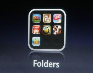создать папку в iPhone