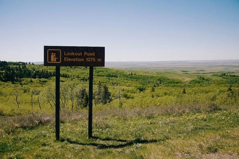 The highest point in Saskatchewan.