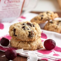 cranberry-cherry coconut oatmeal cookies
