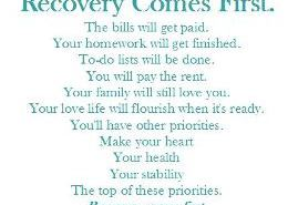 recovery-comes-first