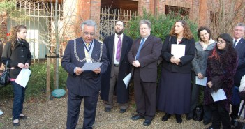 The Mayor, Councillor Shiraz Mirza, speaking at the ceremony