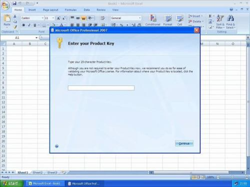 MS Office Professional 2007 Product key plus Serial key Full Version free download