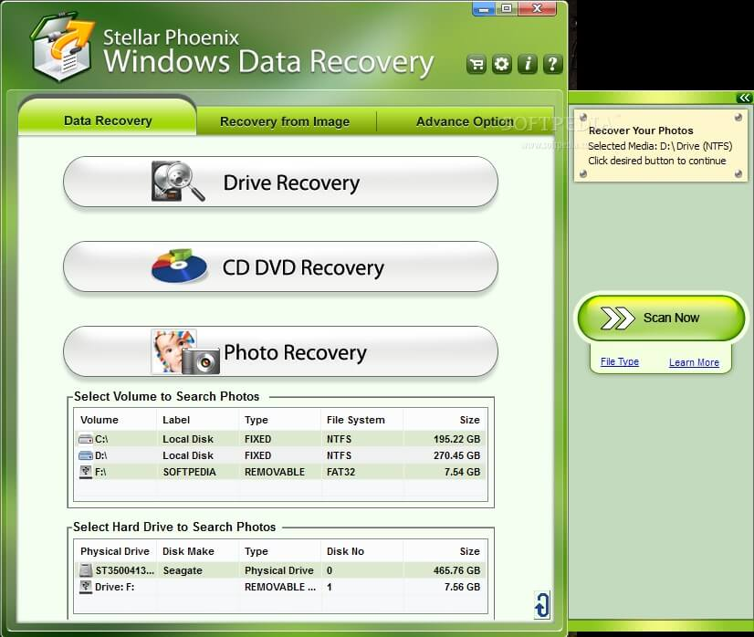 A Software which Recovers Data from Multiple Storage Devices Recover data from any kind of data storage device. Our Windows Data Recovery software can recover data from desktop & laptop hard drives, external hard drives, memory cards, SSD drives, SD cards and RAID servers etc.