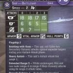 War at Sea Task Force USS Missouri Stat Card