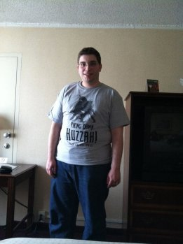 Your&#039;s truly, a few pounds heavier, wearing a Huzzah Con shirt
