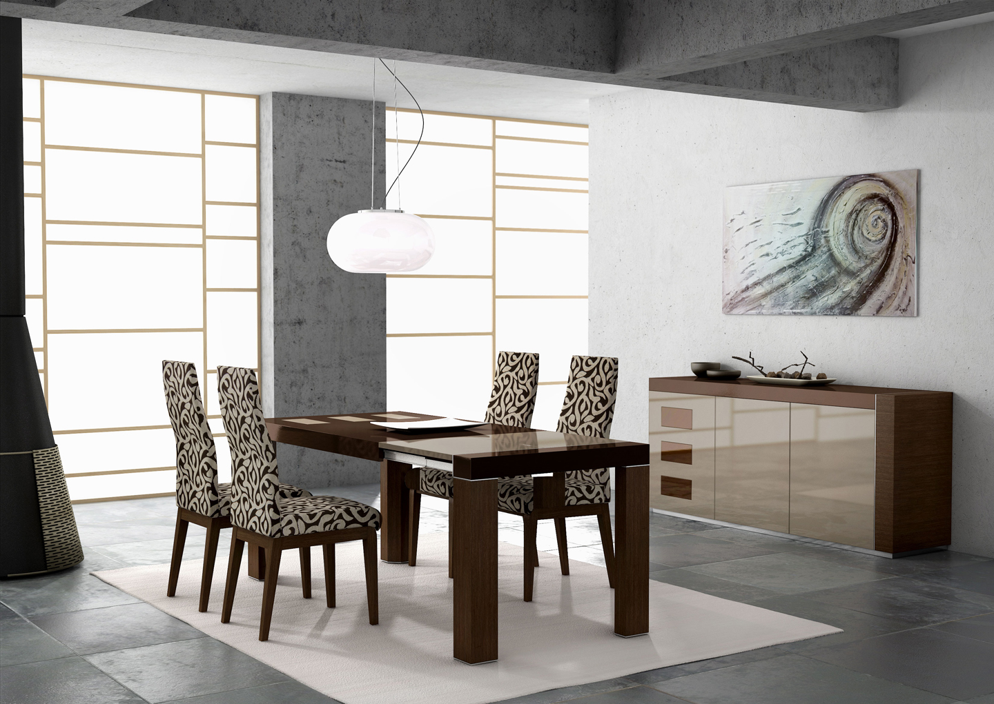 modern dining table modern kitchen table restaurant table lamps photo 3
