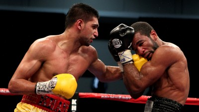 Amir Khan shows how to throw a hook