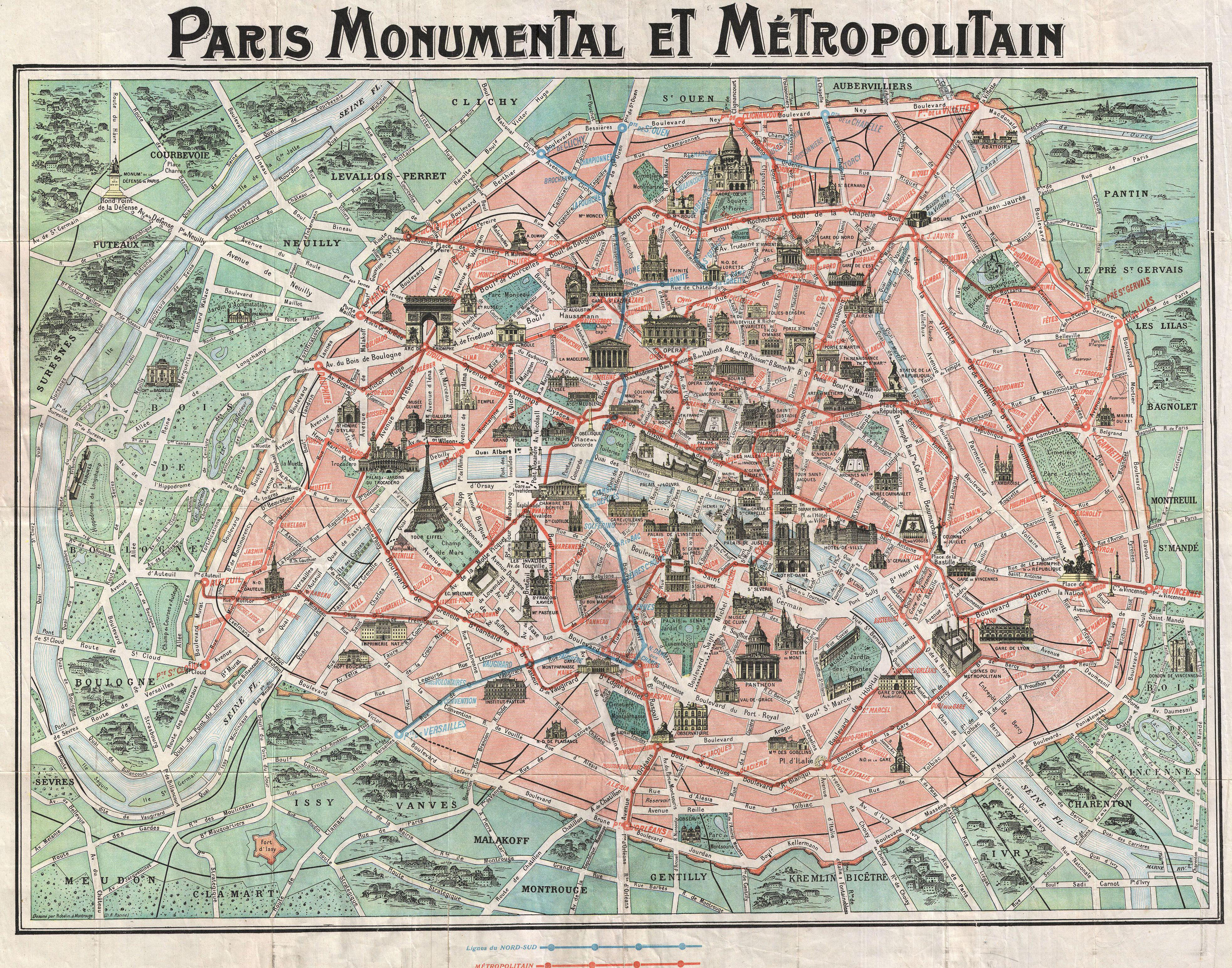Paris from 1800 1900 by  Conor Sweeney   washingtongg3043 http   www oldmapsofparis com map 1932