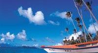 Looking up Pinney's Beach towards sister island St. Kitts