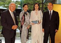 Yoriko Fujisak, Alexandra de Borchgrave, and Japanese Amb. Ichiro Fujisaki