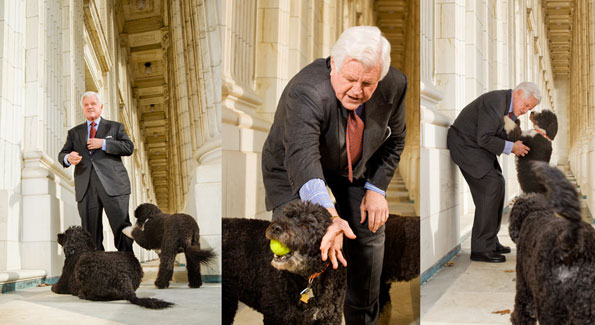Senator Kennedy. Photos by Gary Landsman.