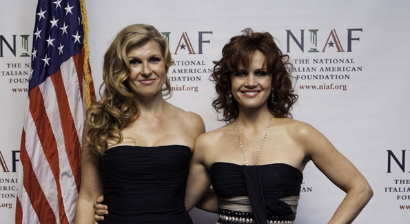 Connie Britton with Carla Gugino. Photograph by Betsy Spruill Clarke