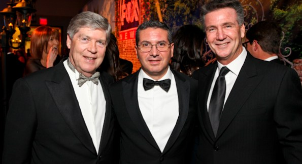 Dwight Schar, Dan Snyder and Bruce Allen at the Fox News Pre-Party at the Radio & Television Correspondents Dinner.  Photo by Tony Powell.