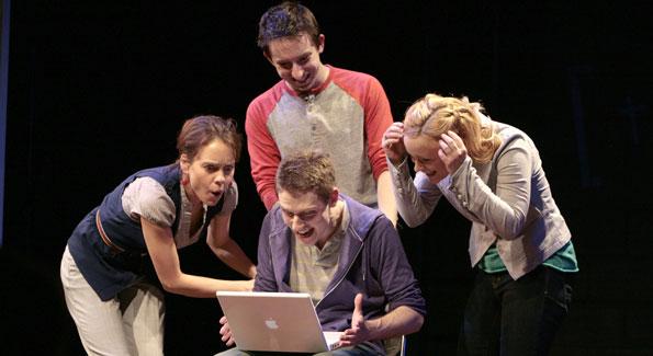 Jenna Sokolowski, Sam Ludwig (seated), James Gardiner, and Erin Driscoll. Photo by Karin Cooper.