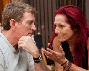 Patricia Field with writer/director Michael Patrick King