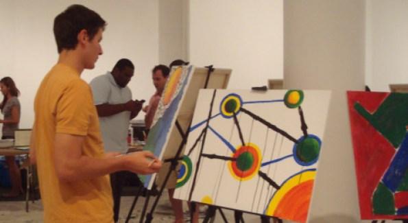 Gabriella Schwartz and Danielle Traub show off their masterpieces.  Photo by Roshan Farazad
