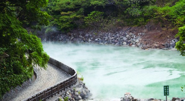 A view from the Villa 32 spa of Beitou Hot Springs. (Photo Anchyi Wei)