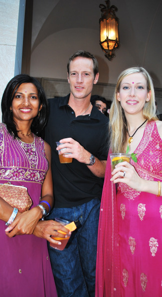 Sangeeta Gupta, Claybourne Clarke, and Amy Stanley Hariani. Photo by Roshan Farazad.