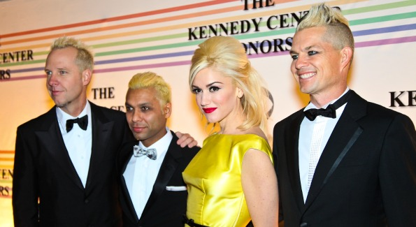 Gwen Stefani and the members of No Doubt. Kennedy Center Honors Red Carpet. Photo by Tony Powell.