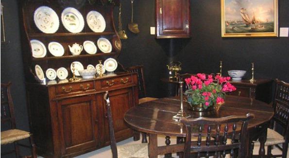 Running Battle Antiques- Early English Furniture. Photo courtesy of Washington Winter Show.