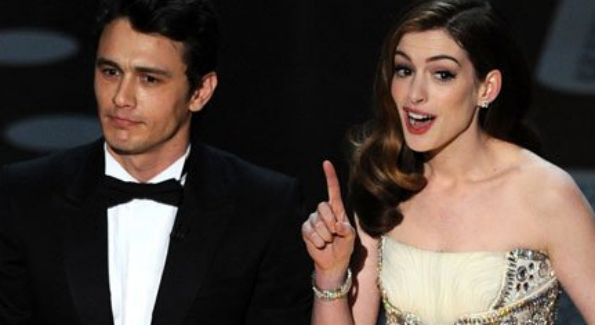 James Franco and Anne Hathaway host the Oscars. Photo Courtesy of Getty Images.