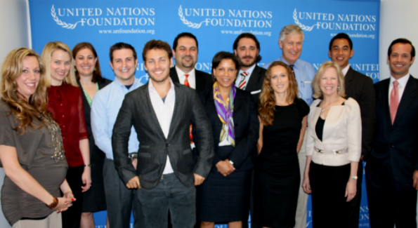 The Global Entrepreneurs Council gathers for their first meeting at the UN Foundation headquarters on Tuesday.