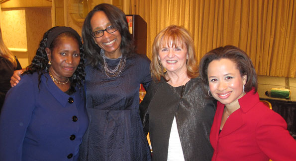 (l to r) Patricia Morris (SFC board member and former client), Robin Givhan, Sharon Flynn (SFC executive director), Maurisa Potts.