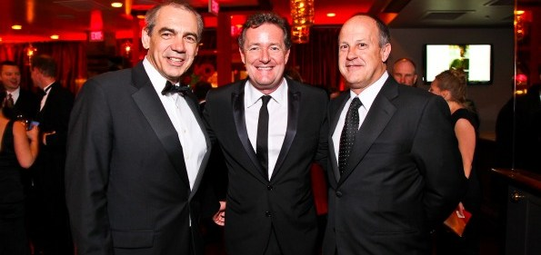 Executive Vice President of CNN Ken Jautz, Piers Morgan, President of CNN Worldwide Jim Walton. CNN Congressional Correspondent's Dinner After Party. Photo by Tony Powell.