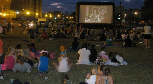 """Indoor movie theaters are so last year. Capitol Riverfront is just one of the DC areas hosting outdoor film festivals. This year's theme is """"Oscar Winners."""""""