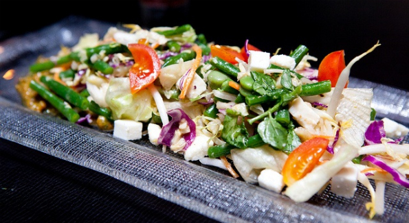 The Zarza Salad, one of the featured small plates on Zengo DC's new Lima-Tokyo menu. Photo credit: Tina Wong.