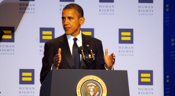 President Barack Obama was the keynote speaker at this year's Annual Human Rights Campaign Dinner. (photo by Kyle Samperton)
