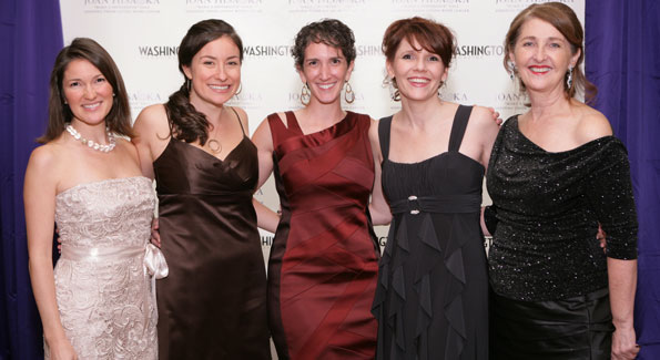 Smith Center staff Meredith Anderson, Alaina Sadick, Jamie Kors, Michelle Clermont, and Shanti Norris at the Oct 2011 Joan Hisaoka Make-a-Difference Gala. Photo courtesy of Washington Life/Tony Powell.
