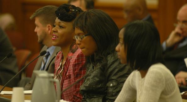 Youth Ambassadors for Metro TeenAIDS testify in city council. (Photo courtesy Metro TeenAIDS)