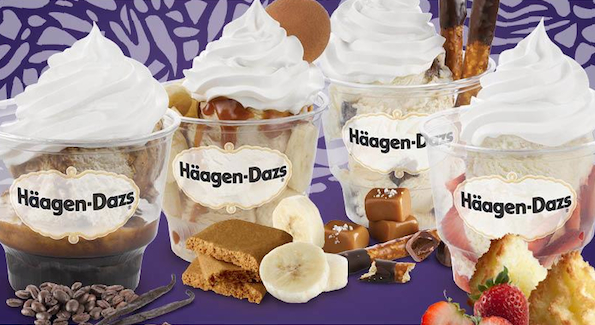 This quartet of new sundaes takes its cues from European, English and Asian flavors.