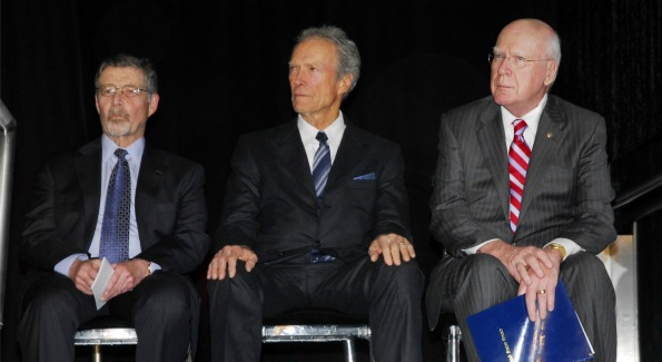 Warner Bros. Chairman and CEO Barry Meyer, Clint Eastwood and Vermont Sen. Patrick Leahy. Photo by Kyle Samperton.