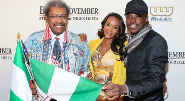 """Don King, Vivica A. Fox and director Jeta Amata attending the """"Black November"""" film screening at The Library of Congress. (Photo: Paul Morigi/WireImage for Wells & Jeta Entertainment)"""