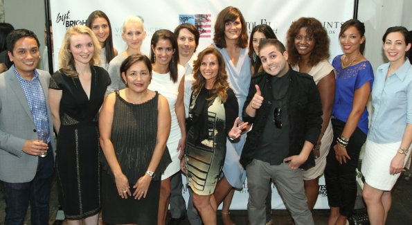 Members of the Host Committee, Georgetown BID and Vital Voices gather at a preview event for FNO 2012.  Left to right: Walter Grio, Alyse Nelson, Kate Michael, Holly Thomas, Nancy Miyahira, Kelly Collis,  Jeff Dufour, Lynda Erkeletian, Svetlana Legetic, Marissa Schneider, Samy K, Aba Kwawu, Marie Coleman, Rachel Cothran