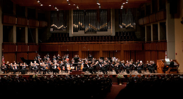 The National Symphony Orchestra performed during the Kennedy Center Debut Concert. (Photo by Margot Ingoldsby Schulman)