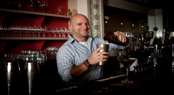 Josh Berner mixes up one of his innovative creations at Cleveland Park's Ripple. Photo courtesy of Elizabeth Parker.