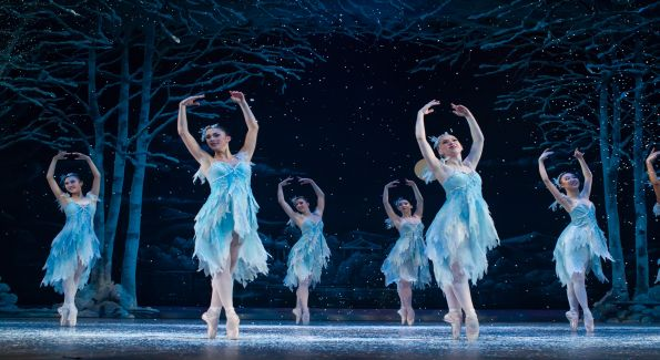 The Snow Queen and Snowflakes in The Washington Ballet's rendition of The Nutracker. Photo courtesy of Paul Zambrana and The Washington Ballet.